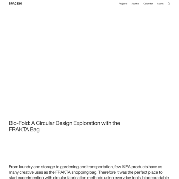 Bio-Fold: A Circular Design Exploration with the FRAKTA Bag | SPACE10
