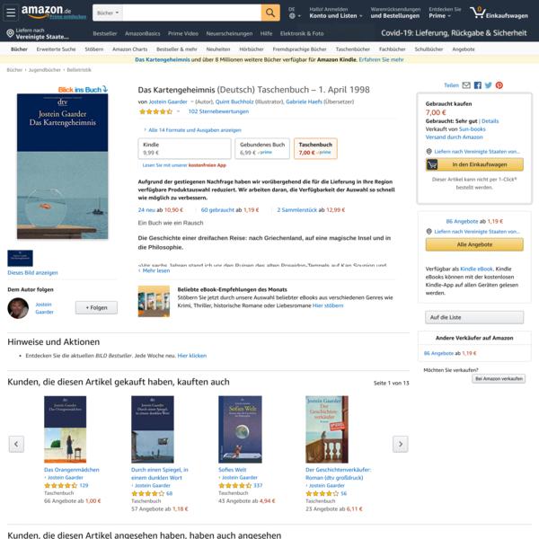 Das Kartengeheimnis: Amazon.de: Gaarder, Jostein, Buchholz, Quint, Haefs, Gabriele: Bücher