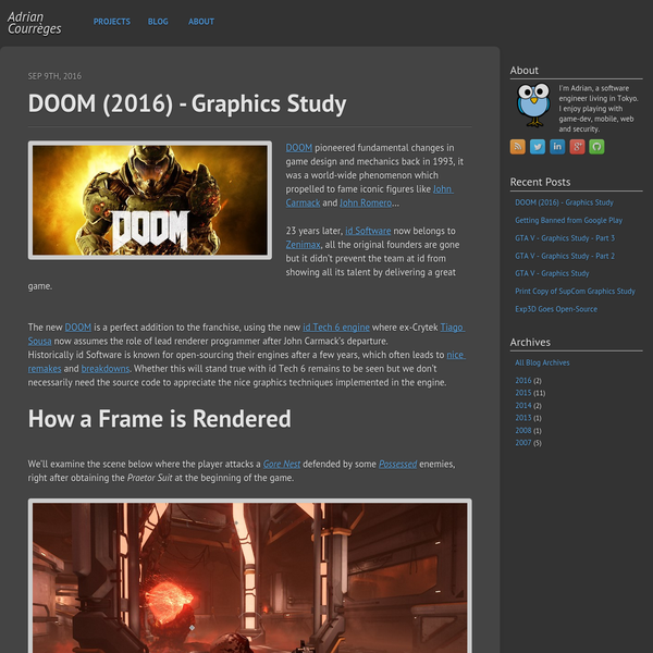 DOOM pioneered fundamental changes in game design and mechanics back in 1993, it was a world-wide phenomenon which propelled to fame iconic figures like John Carmack and John Romero ... 23 years later, id Software now belongs to Zenimax, all the original founders are gone but it didn't prevent the team at id from showing all its talent by delivering a great game.