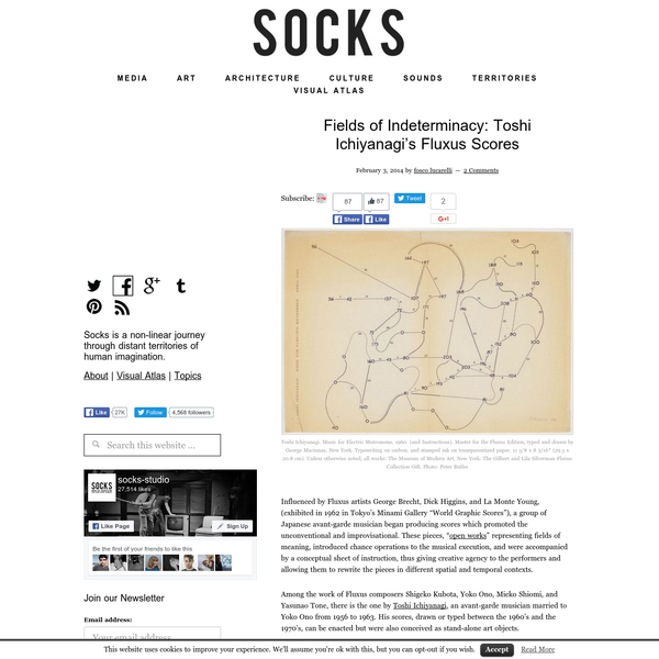 Fields of Indeterminacy: Toshi Ichiyanagi's Fluxus Scores - - SOCKS