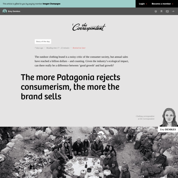 The more Patagonia rejects consumerism, the more the brand sells