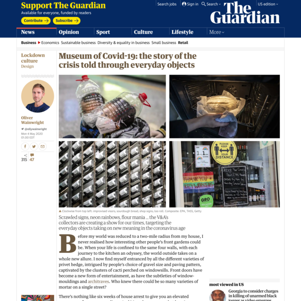 Museum of Covid-19: the story of the crisis told through everyday objects
