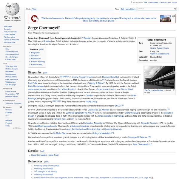 Serge Chermayeff - Wikipedia, the free encyclopedia