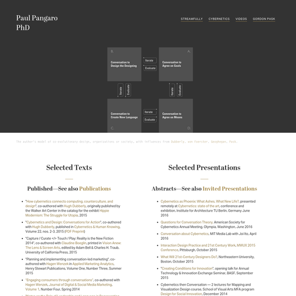 Paul Pangaro, PhD
