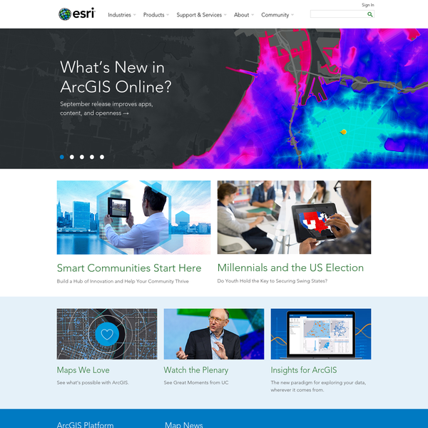 Esri - GIS Mapping Software, Solutions, Services, Map Apps, and Data