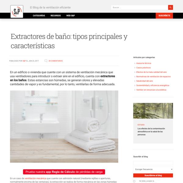 Extractores de baño: tipos principales y características