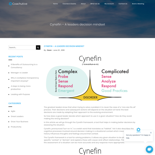 Cynefin - A leaders decision mindset – Coachutive