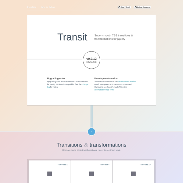 Transit - CSS transitions and transformations for jQuery