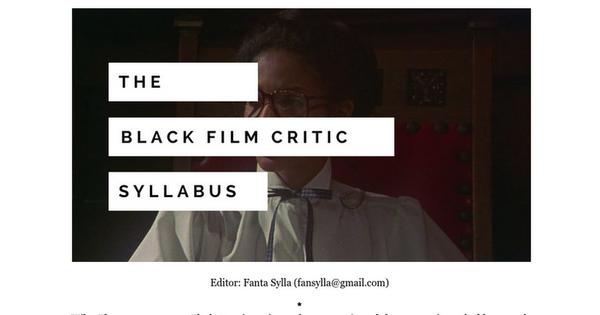 The Black Film Critic Syllabus
