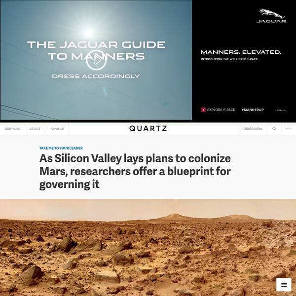 As Silicon Valley lays plans to colonize Mars, researchers offer a blueprint for governing it