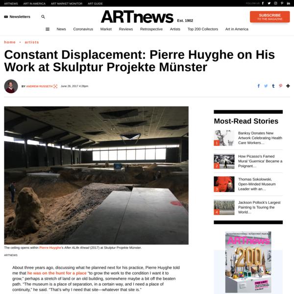 Constant Displacement: Pierre Huyghe on His Work at Skulptur Projekte Münster