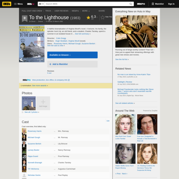 To the Lighthouse (TV Movie 1983) - IMDb