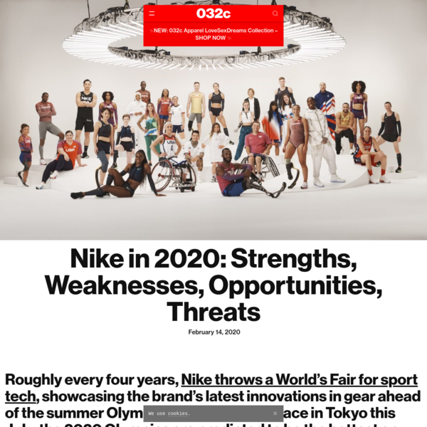 Nike in 2020: Strengths, Weaknesses, Opportunities, Threats - 032c