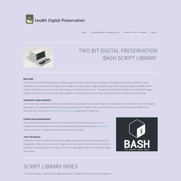 twoBit Script Library - twoBit Preservation