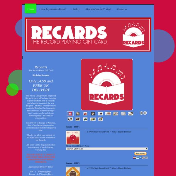 Recards - Home