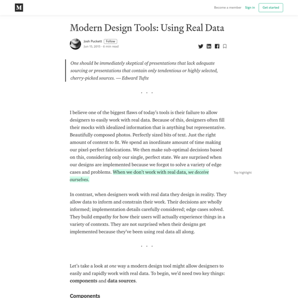 Modern Design Tools: Using Real Data