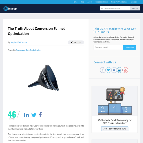 The Truth About Conversion Funnel Optimization