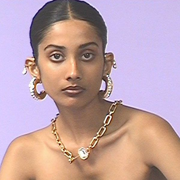 The dress code said business casual. #Release919 piercing necklace and hoops inset with Swarovski crystals. #FENTY #TakeUpSp...