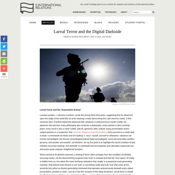 Larval Terror and the Digital Darkside