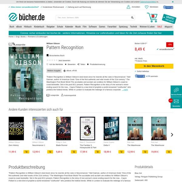 Pattern Recognition von William Gibson - englisches Buch - bücher.de