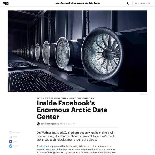 On Wednesday, Mark Zuckerberg began what he claimed will become a regular effort to share pictures of Facebook's most advanced technologies from around the globe. The first set of pictures that he's sharing is from the Luleå data center in Sweden.