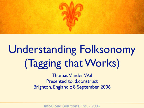 Understanding Folsonomy (Tagging that Works)