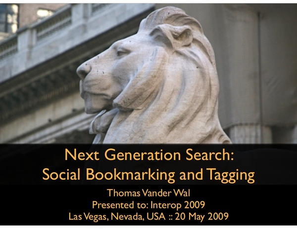 Next Generation Search: Social Bookmarking and Tagging