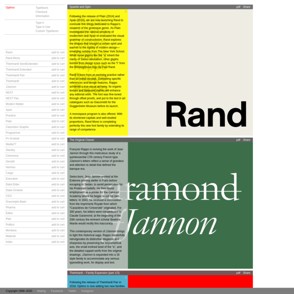 Optimo Type Foundry