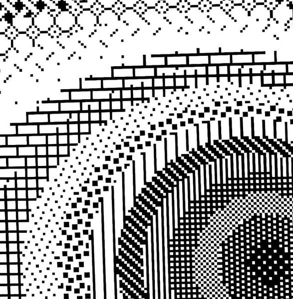 Dithering test (MacPaint tiles) #realtime #glsl #javascript