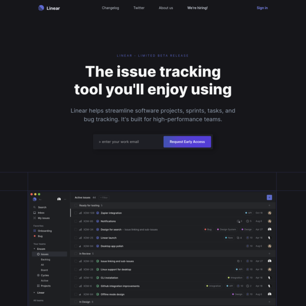 Linear - The issue tracking tool you'll enjoy using