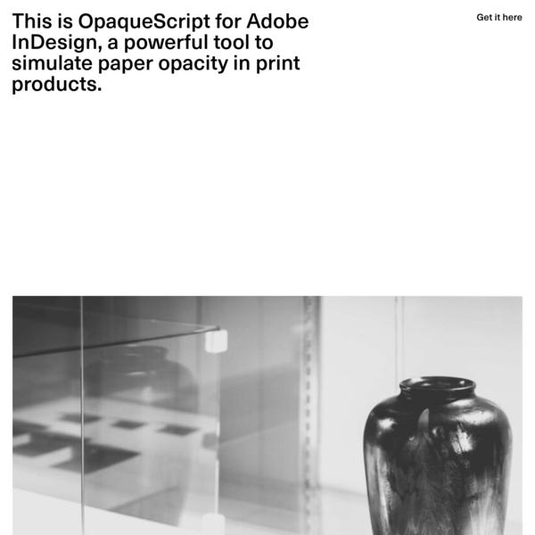 OpaqueScript