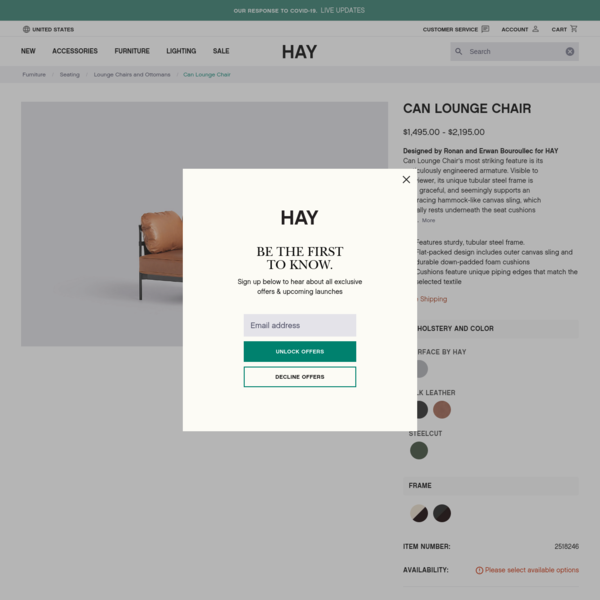 Can Lounge Chair - HAY