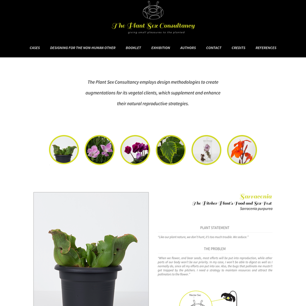 PSX Consultancy - The Plant Sex Consultancy - Giving Small Pleasure to the Planted. An artistic design project questioning the design methologies, philosophy, and cultural differences. Investigation into the anthroprocene and the mysterious world of plant sex.