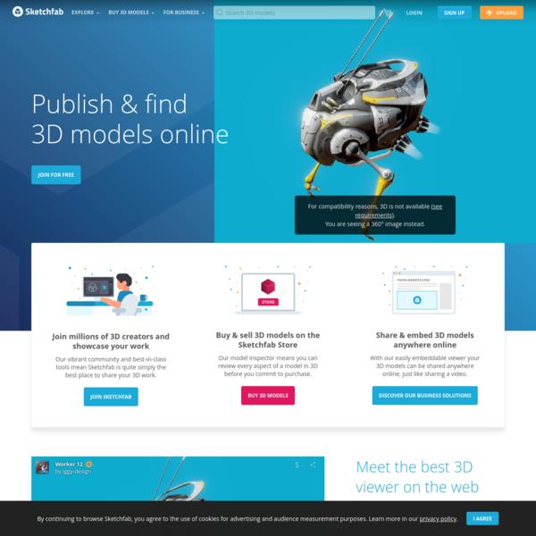 Sketchfab - Publish & find 3D models online