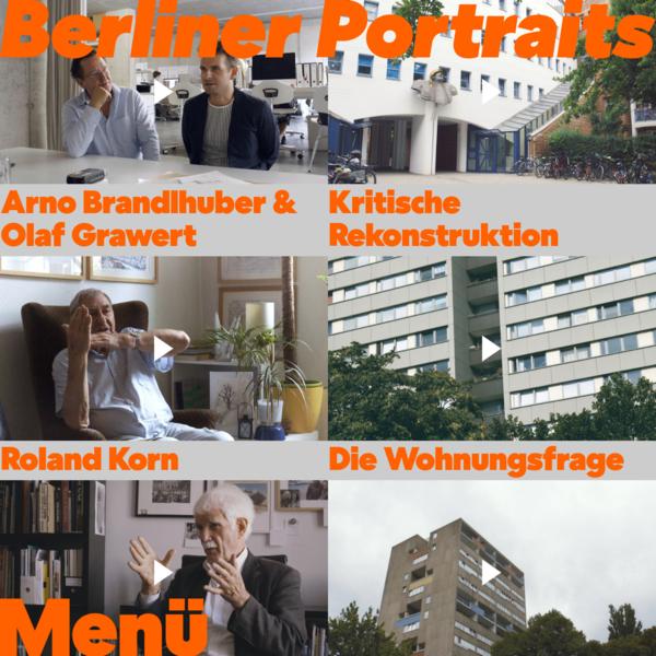 Berliner Portraits - Erzählungen zur Architektur der Stadt