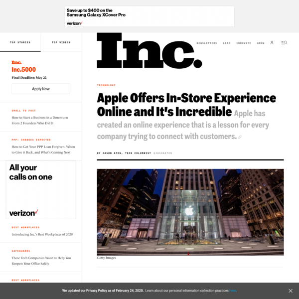 Apple Offers In-Store Experience Online and It's Incredible
