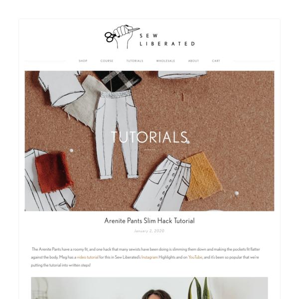 Arenite Pants Slim Hack Tutorial - Sew Liberated