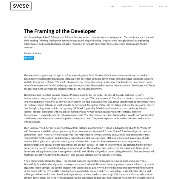 Impact vs. Backlog Framing in Software Development