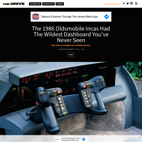The 1986 Oldsmobile Incas Had The Wildest Dashboard You've Never Seen