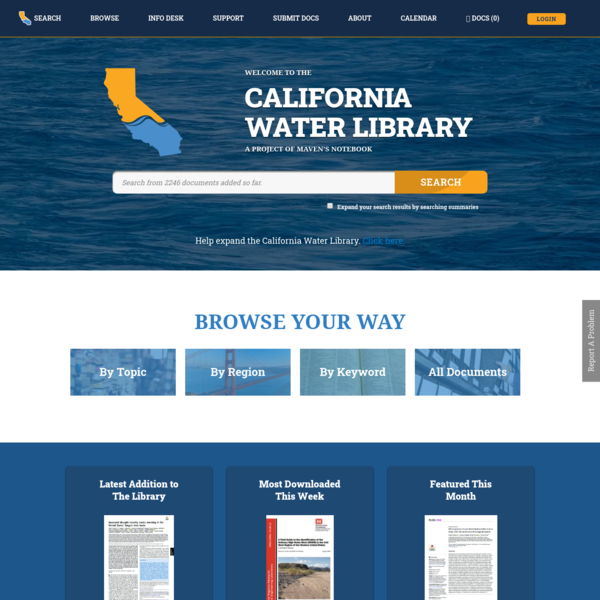 California Water Library