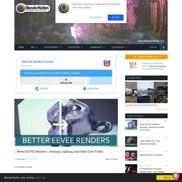 Better EEVEE Renders - Settings, Lighting, and Other Cool Tricks - BlenderNation