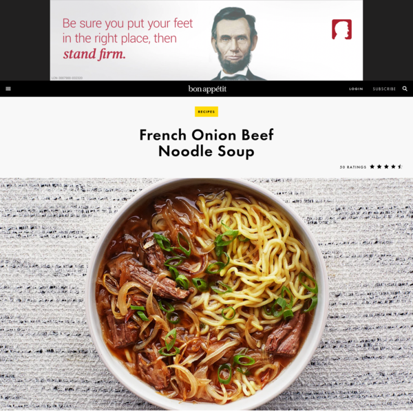 French Onion Beef Noodle Soup Recipe