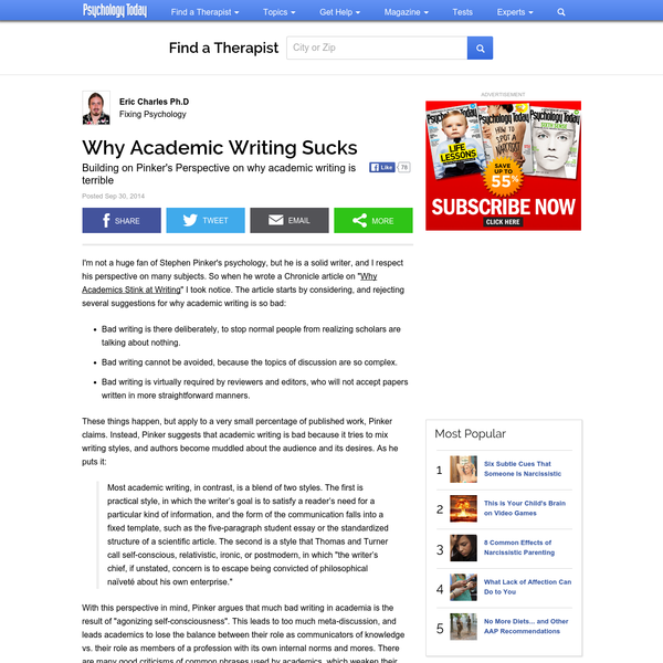 Why Academic Writing Sucks