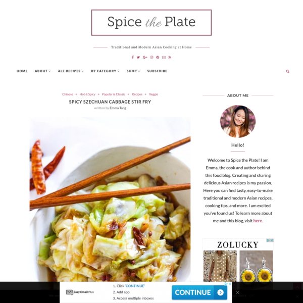 Spicy Szechuan Cabbage Stir Fry - Spice the Plate