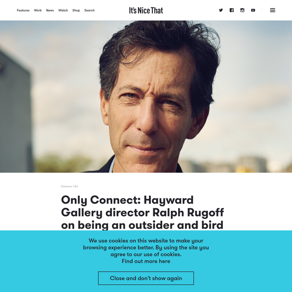 """""""I just thought it was a great work of art that at 4pm every day 100,000 pigeons would suddenly be hovering around the Hayward. It would be very spooky but I don't regret saying no to it as I couldn't have lived with asking someone to clean up the bird shit from 100,000 pigeons."""""""