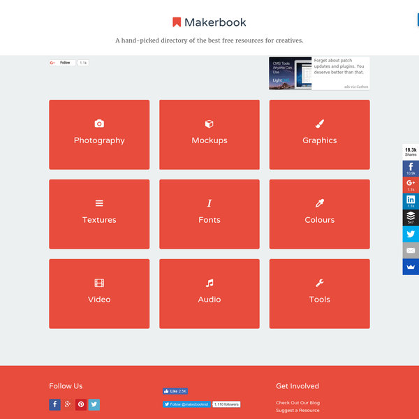 Makerbook - The best free resources for creatives.