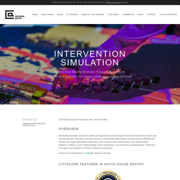 Urban Intervention Simulation