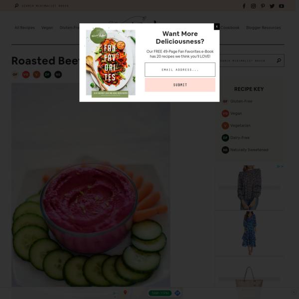 Roasted Beet Hummus | Minimalist Baker Recipes