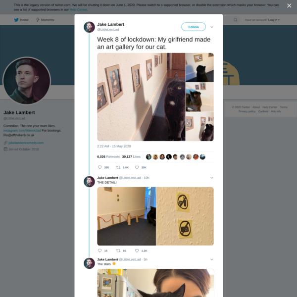 Jake Lambert on Twitter