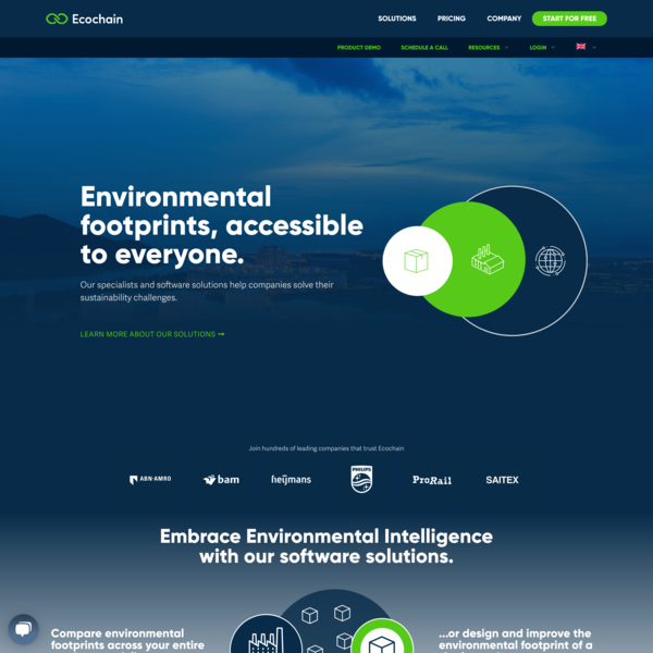 Ecochain - Environmental Intelligence Platform